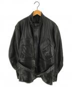 VANSON(バンソン)の古着「[古着]TT38エンデューロライダースコート カーコート」 ブラック