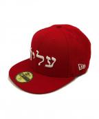 SUPREME×NEWERA(シュプリーム×ニューエラ)の古着「Hebrew Logo NEW ERA CAP」|レッド