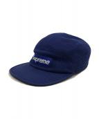 SUPREME(シュプリーム)の古着「Pique Knit Camp Cap キャップ」|ネイビー