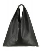 MM6 Maison Margiela(エムエムシックス メゾンマルジェラ)の古着「シンセティックレザーバッグ ハンドバッグ」|ブラック