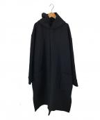 ATON()の古着「パッチポケットローブコート」|ブラック