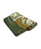 HERMES(エルメス)の古着「カレ90 Soleil de soieスカーフ」|グリーン