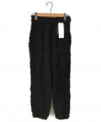 SueUNDERCOVER(スーアンダーカバー)の古着「ニットファーリブパンツ」|ブラック