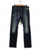 REPLAY(リプレイ)の古着「ダメージ加工デニムパンツ」|インディゴ
