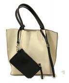 ()の古着「バイカラーハンドバッグ」|オフホワイト×ブラック