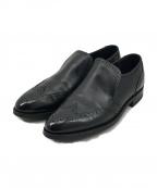 Lloyd footwear(ロイドフットウェア)の古着「ウィングチップスリッポンシューズ」|ブラック