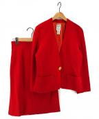 CELINE(セリーヌ)の古着「[OLD]オールドマカダム金釦セットアップスーツ」|レッド
