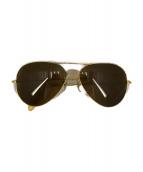 ()の古着「[古着]ヴィンテージティアドロップサングラス」|ゴールド
