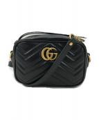 GUCCI(グッチ)の古着「GGマーモントキルティングチェーンショルダーバッグ」|ブラック