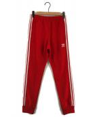 adidas(アディダス)の古着「トラックパンツ サイドラインパンツ」|レッド