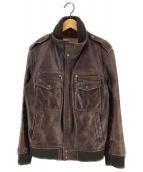 ()の古着「ホースハイドレザージャケット」 ブラウン