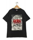 AKRA ART OF WALL(アキラアートオブウォール)の古着「プリントTシャツ」|ブラック