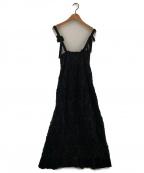 TAO COMME des GARCONS(タオ コムデギャルソン)の古着「ステッチデザインギャザーワンピース」|ブラック