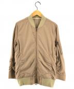 SHIPS JET BLUE(シップスジェットブルー)の古着「トロピカルMA-1ジャケット」 カーキ