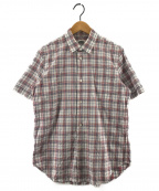 eYe COMME des GARCONS JUNYAWATANABE MAN(アイコムデギャルソンジュンヤワタナベマン)の古着「半袖チェックシャツ」 ホワイト×レッド