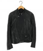 BANANA REPUBLIC(バナナリパブリック)の古着「ゴートレザージャケット」 ブラック