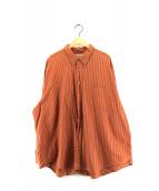 ()の古着「ストライプシャツ オックスフォードシャツ」 ブラウン