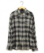HYDROGEN(ハイドロゲン)の古着「チェックウエスタンシャツ」 ブラック