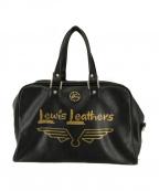 Lewis Leathers(ルイスレザース)の古着「2wayレザーボストンバッグ」 ブラック