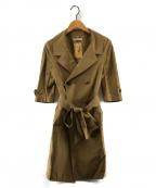 MUVEIL()の古着「シルクトレンチコート」|ベージュ