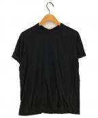 RICK OWENS(リックオウエンス)の古着「クルーネックカットソー」|ブラック