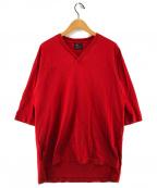 syte(サイト)の古着「Vネックカットソー Tシャツ」|レッド