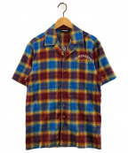PLEASURES(プレジャーズ)の古着「SHADOW PLAID S/S シャツ」 マルチカラー