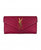 Saint Laurent Paris()の古着「YSLロゴ2つ折り長財布」|ショッキングピンク