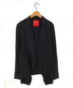 Ys(ワイズ)の古着「フック留ステッチデザインテーラードジャケット」|ネイビー