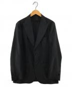SOVEREIGN(ソブリン)の古着「ポリエステル ピークドラペル2Bライトジャケット」|ブラック