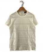 tricot COMME des GARCONS()の古着「カットワークショートスリーブカットソー」|ホワイト