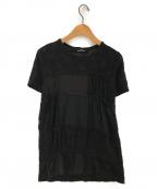 tricot COMME des GARCONS()の古着「パッチワークTシャツ」|ブラック