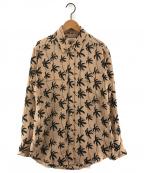 EQUIPMENT(エキップモン)の古着「シルクシャツ」 ピンクベージュ