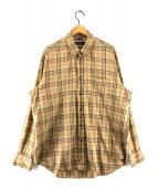 ()の古着「BIGサイズBDチェックシャツ」 ブラウン