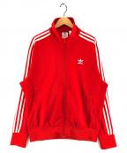 adidas(アディダス)の古着「トラックジャケット」|レッド