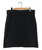 GANRYU(ガンリュウ)の古着「ウールフラノ膝丈スカート」|ブラック