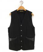 RUDE GALLERY BLACK REBEL(ルードギャラリー ブラックレーベル)の古着「EDENホースハイドベスト」 ブラック