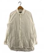 CASEY CASEY(ケーシーケーシー)の古着「Paper Long Sleeve Shirt」 ホワイト