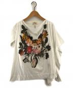 Vivienne Westwood ANGLOMANIA(ヴィヴィアンウエストウッド アングロマニア)の古着「プリントカットソー Tシャツ」|ホワイト