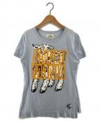 Vivienne Westwood ANGLOMANIA(ヴィヴィアンウエストウッド アングロマニア)の古着「プリントカットソー Tシャツ」|スカイブルー