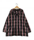 KAPTAIN SUNSHINE(キャプテンサンシャイン)の古着「Anorak Parka アノラックパーカー」|ブラック×ピンク