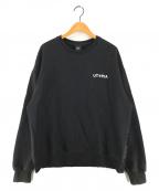 OY(オーワイ)の古着「CLOUD LOGO MTM SWEAT ロゴスウェット」|ブラック