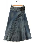 JUNYA WATANABE CdG(ジュンヤワタナベコムデギャルソン)の古着「デザインロングデニムスカート」 インディゴ