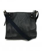 Yves Saint Laurent()の古着「YSLロゴレザーショルダーバッグ」|ブラック