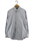RALPH LAUREN()の古着「ボタンダウンシャツ」 ブルー×ホワイト