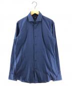 BOSS HUGO BOSS(ボスヒューゴボス)の古着「ホリゾンタルカラーシャツ」|ネイビー