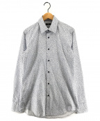 BOSS HUGO BOSS(ボスヒューゴボス)の古着「リーフ柄シャツ」|ホワイト