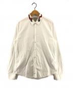 GUCCI()の古着「スネーク付オックスフォードデュークシャツ」 ホワイト