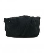 ANN DEMEULEMEESTER(アンドゥムルメステール)の古着「4ポケットスウェードショルダーバッグ」|ブラック