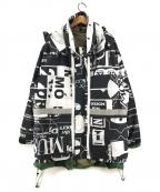 bodysong.(ボディソング)の古着「MultipurposePJK コート ジャケット」|ブラック×ホワイト